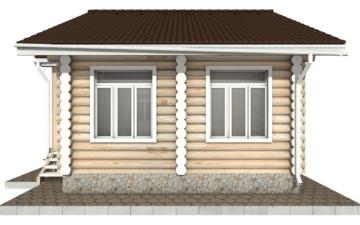 Фото #10: Красивый деревянный дом РС-84 из бревна
