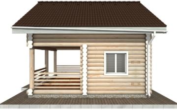 Фото #10: Красивый деревянный дом РС-85 из бревна