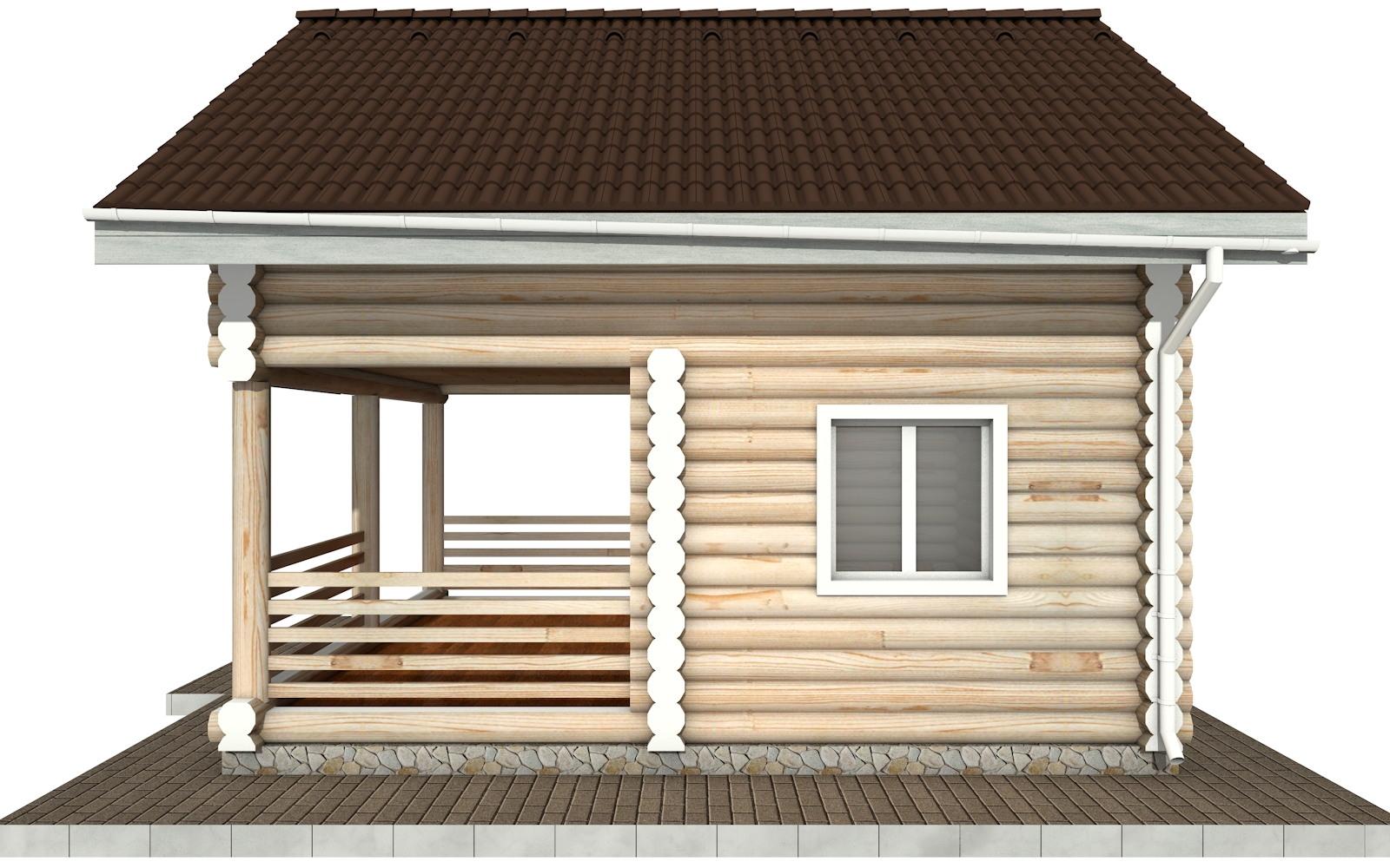 Фото #9: Красивый деревянный дом РС-85 из бревна