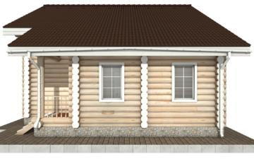 Фото #10: Красивый деревянный дом РС-87 из бревна
