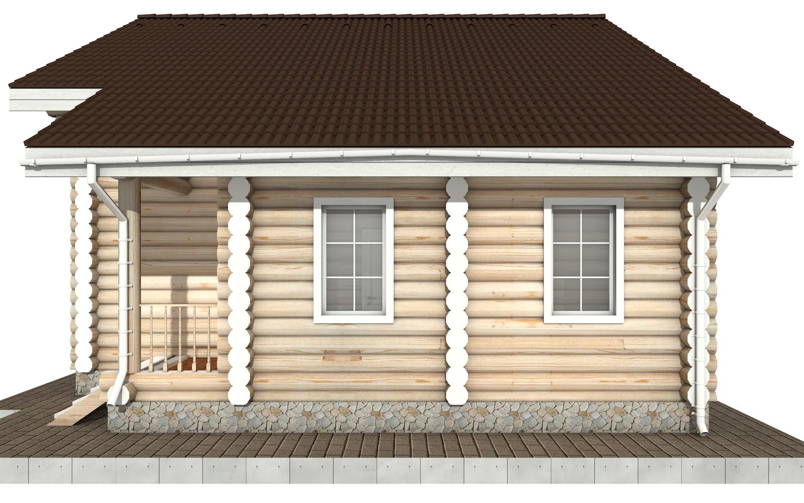 Фото #9: Красивый деревянный дом РС-87 из бревна