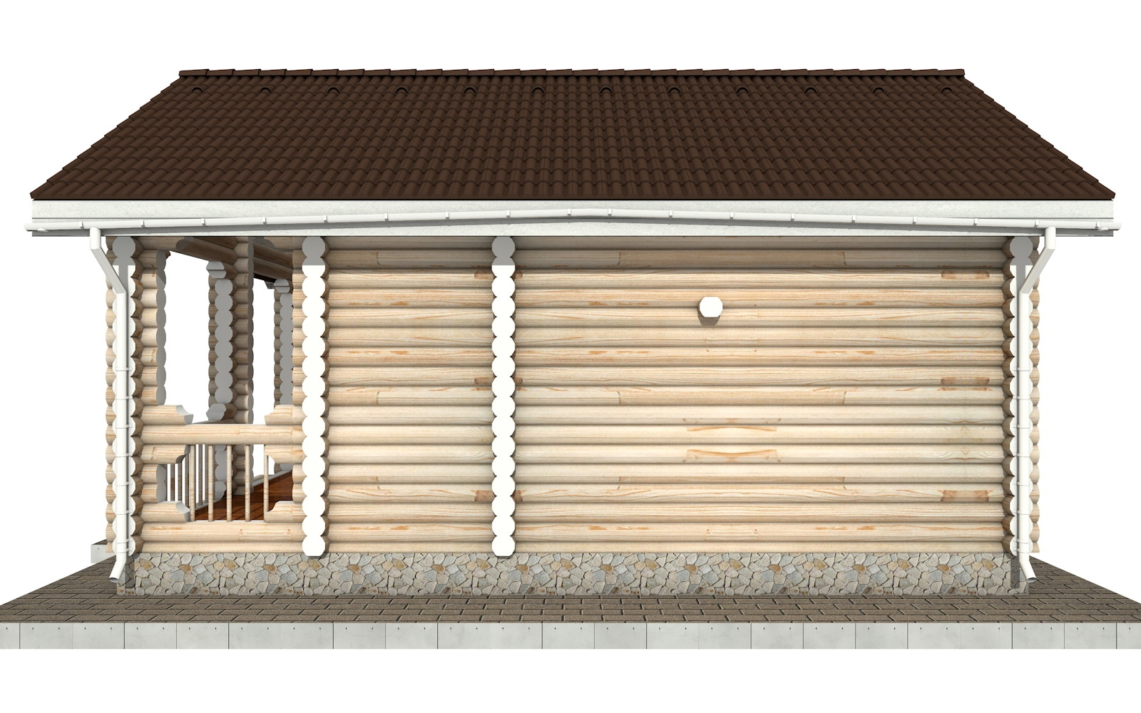 Фото #9: Красивый деревянный дом РС-88 из бревна