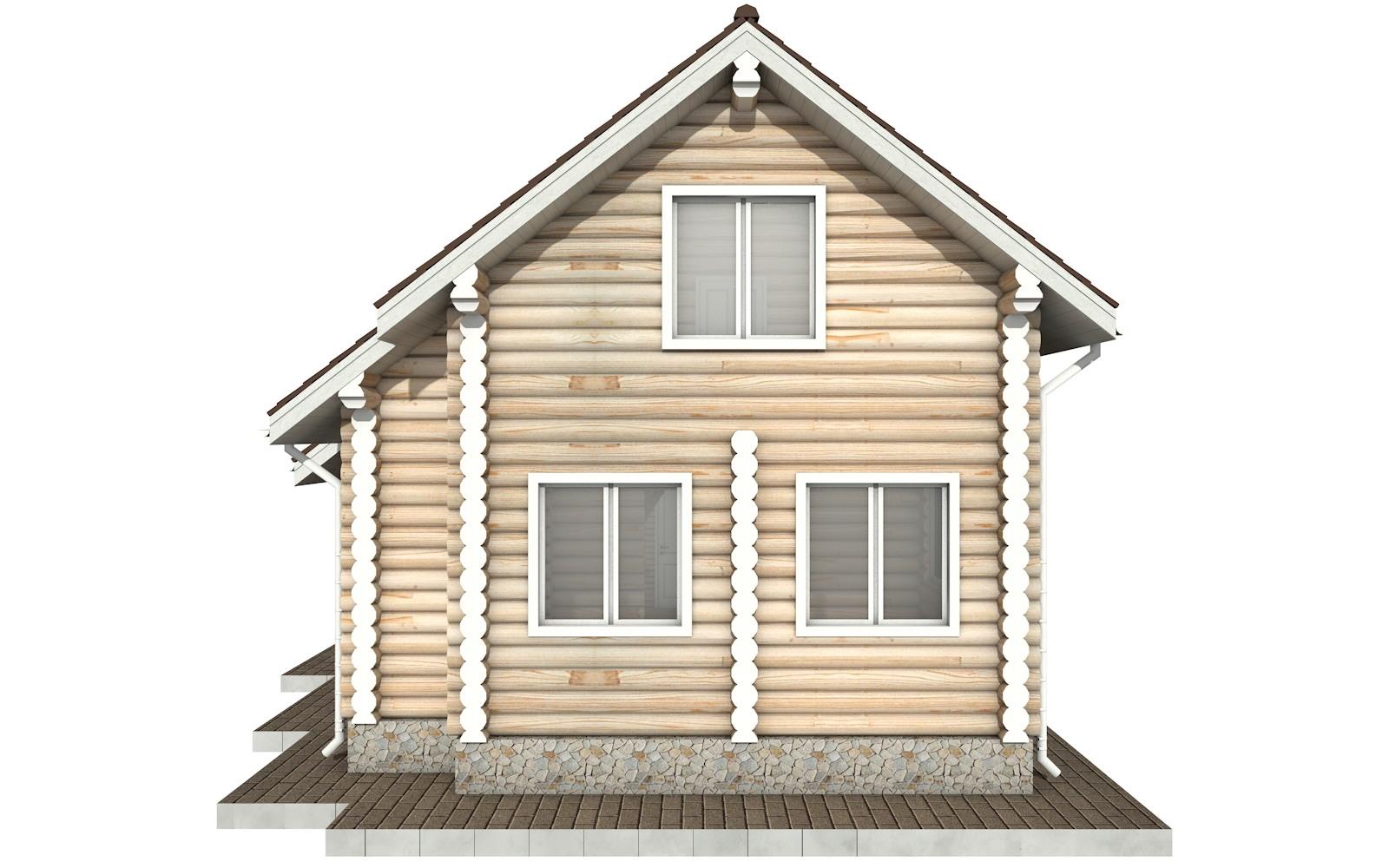 Фото #9: Красивый деревянный дом РС-90 из бревна
