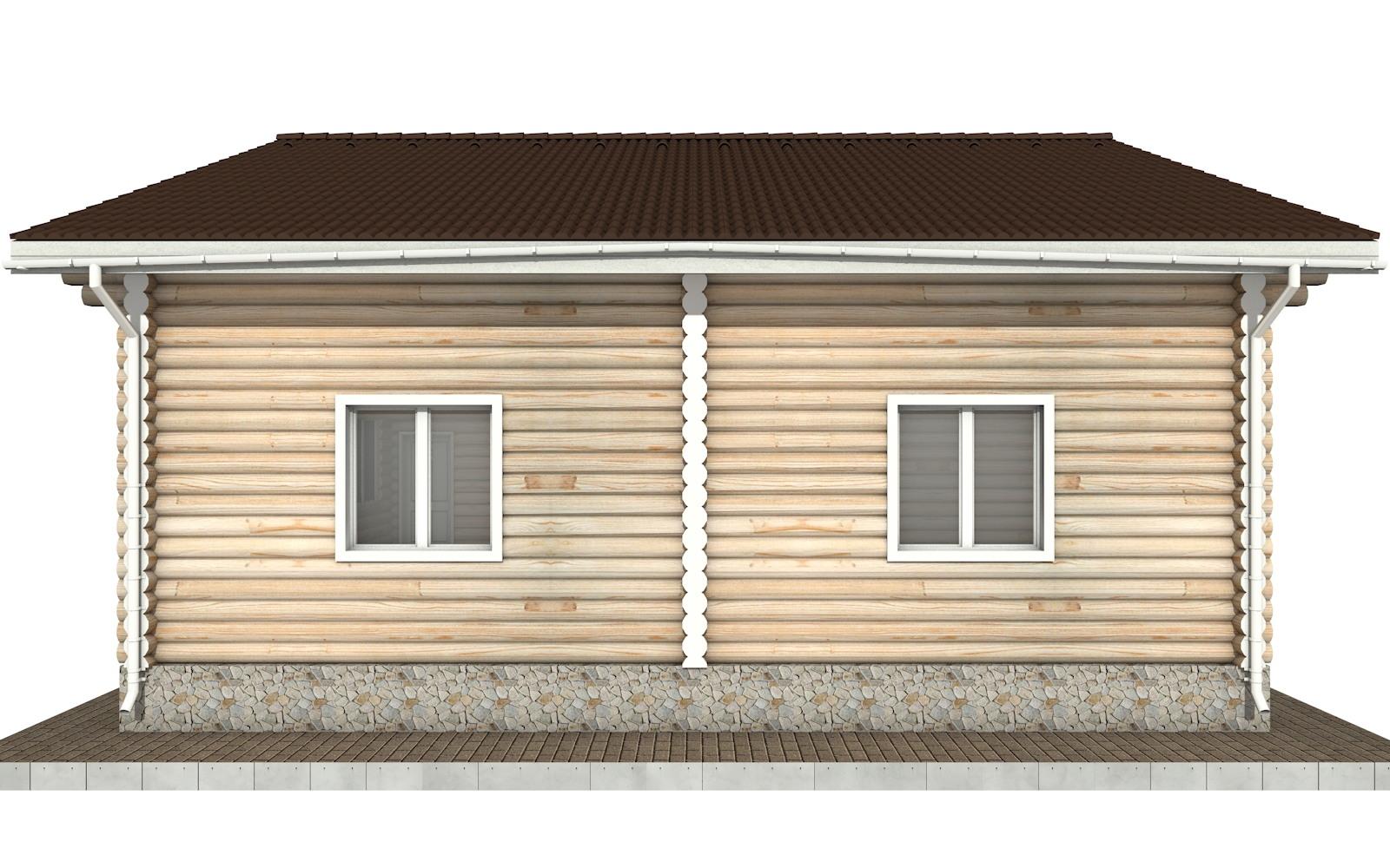 Фото #9: Красивый деревянный дом РС-91 из бревна