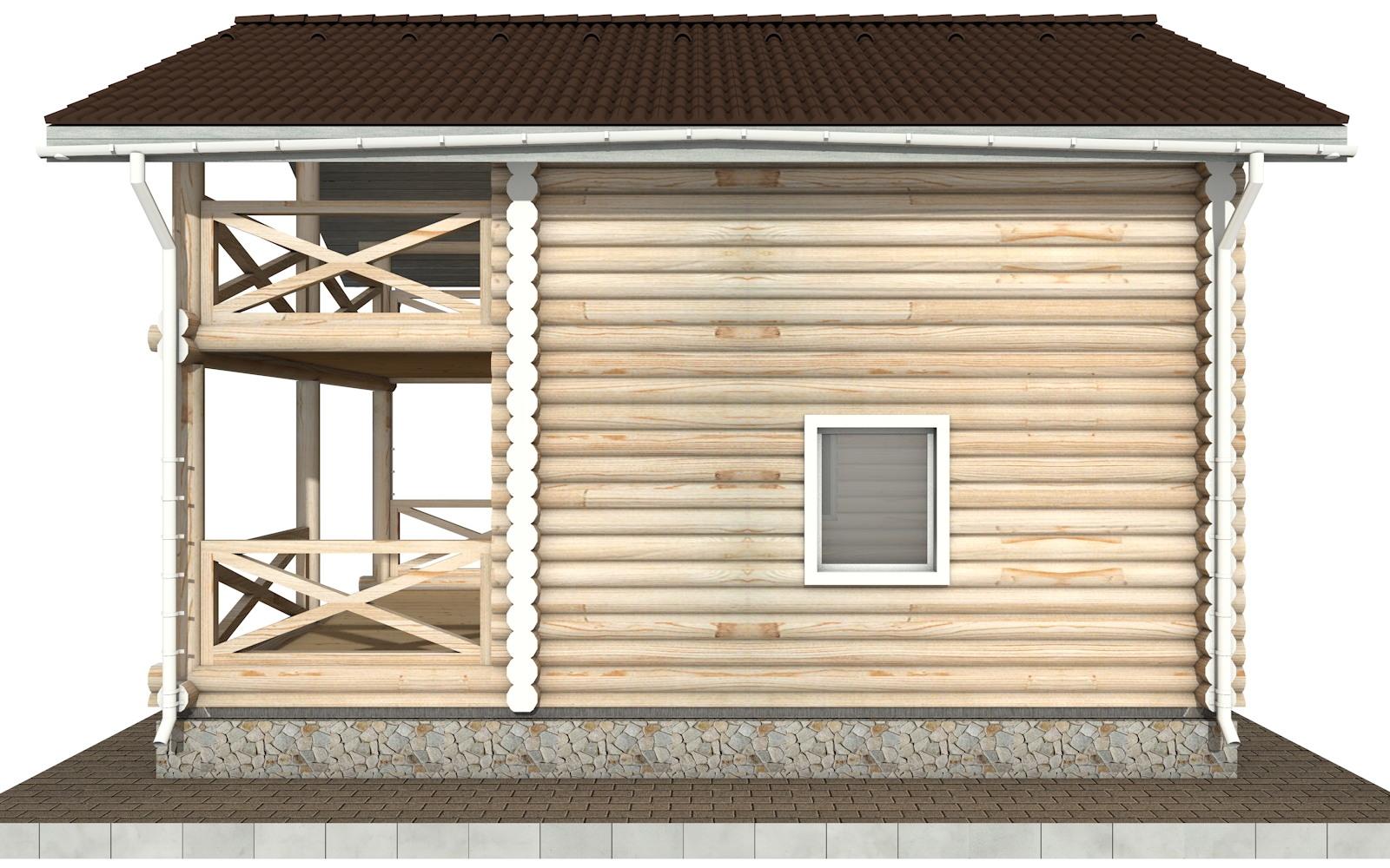 Фото #9: Красивый деревянный дом РС-92 из бревна