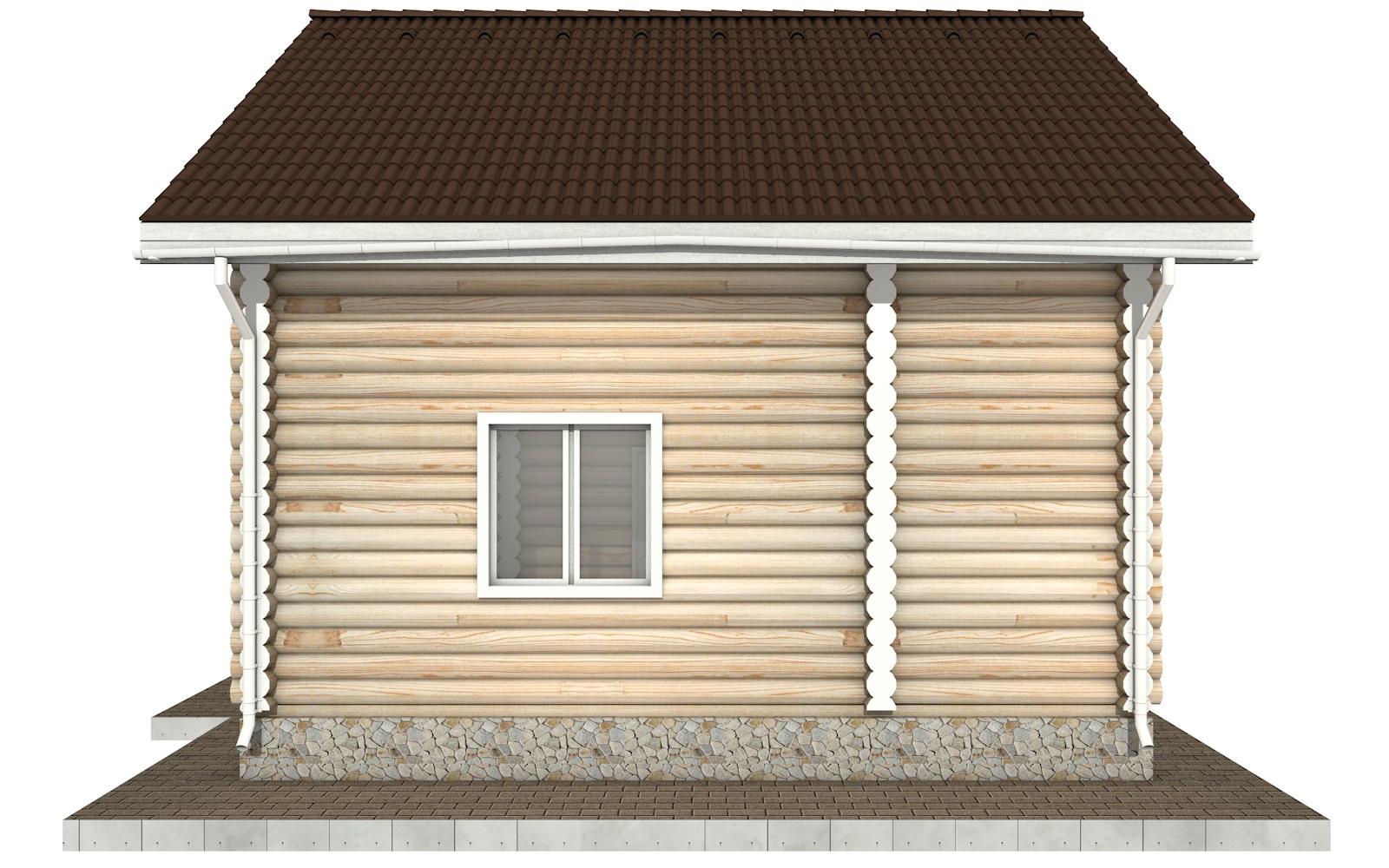 Фото #9: Красивый деревянный дом РС-93 из бревна