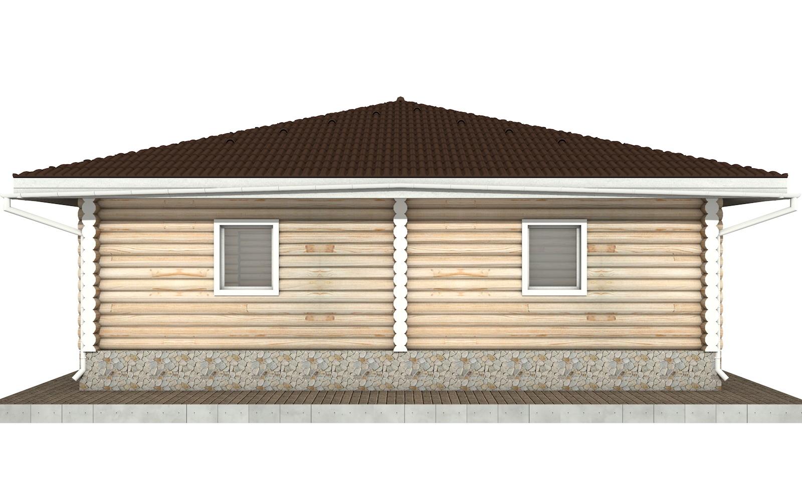 Фото #8: Красивый деревянный дом РС-96 из бревна