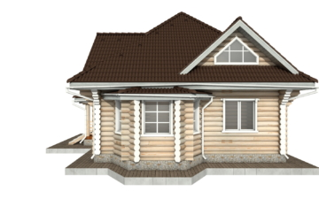 Фото #10: Красивый деревянный дом РС-97 из бревна