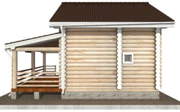 Фото #10: Красивый деревянный дом РС-99 из бревна