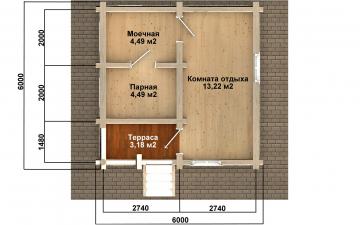 Баня из бревна - проект Бр-34, фото #9