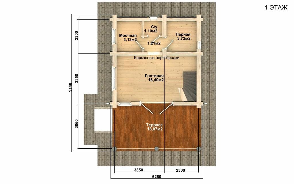 Фото #4: Красивый деревянный дом РС-99 из бревна
