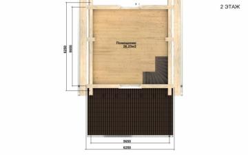 Фото #5: Красивый деревянный дом РС-99 из бревна