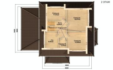 Фото #3: Красивый деревянный дом РС-97 из бревна