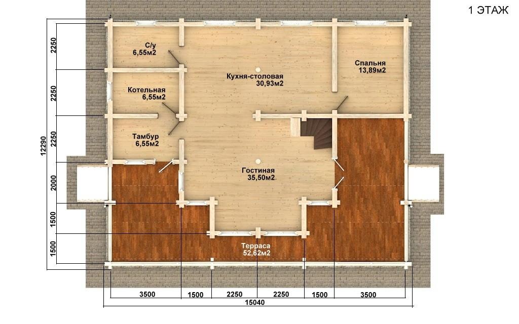 Фото #4: Красивый деревянный дом РС-79 из бревна