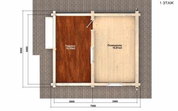 Фото #2: Красивый деревянный дом РС-85 из бревна