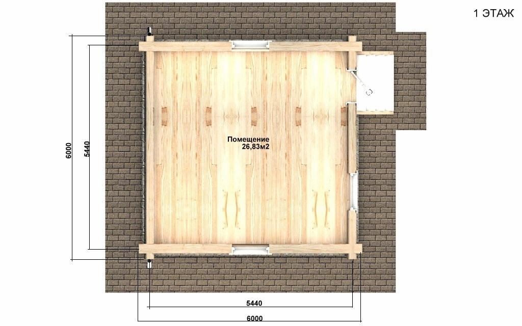Фото #2: Красивый деревянный дом РС-95 из бревна