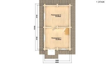 Фото #4: Красивый деревянный дом РС-98 из бревна