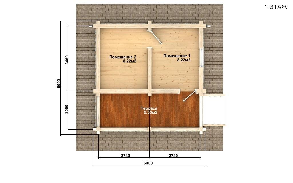 Фото #4: Красивый деревянный дом РС-100 из бревна