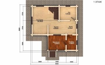 Фото #2: Красивый деревянный дом РС-65 из бревна