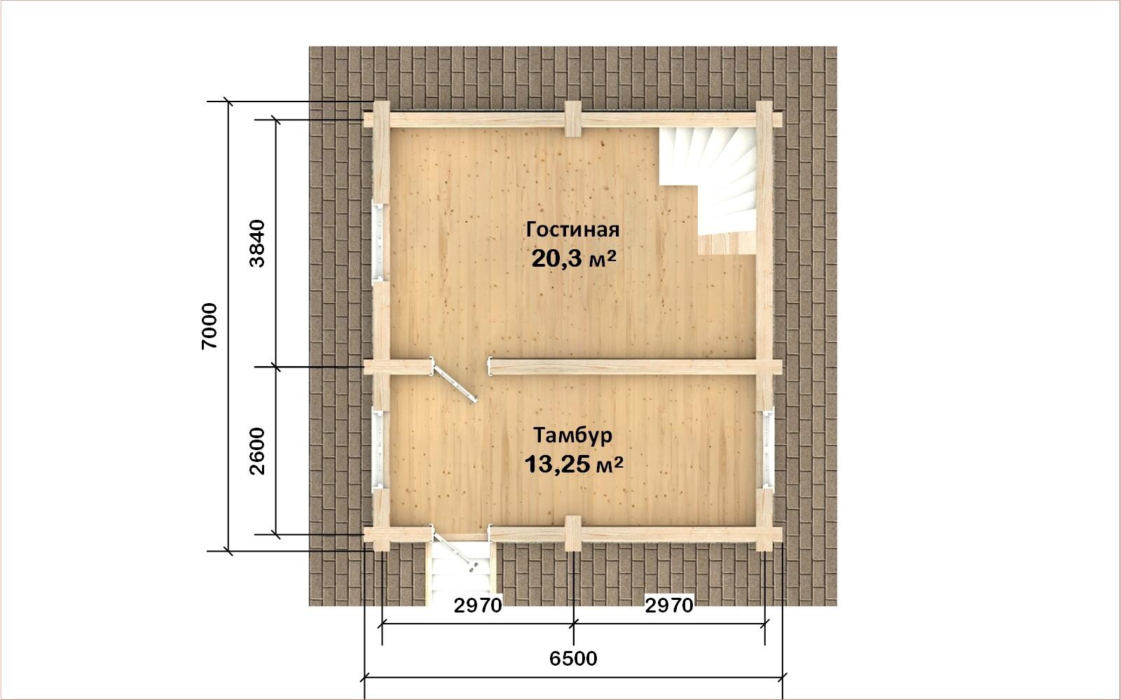 Фото #2: Красивый деревянный дом РС-109 из бревна