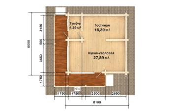 Фото #4: Красивый деревянный дом РС-110 из бревна