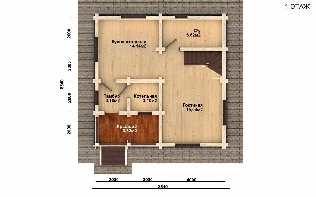 Фото #4: Красивый деревянный дом РС-54 из бревна