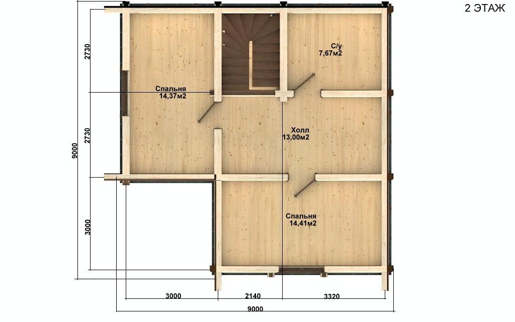 Фото #3: Красивый деревянный дом РС-65 из бревна