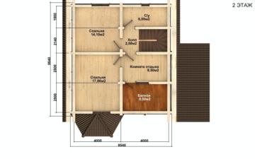 Фото #5: Красивый деревянный дом РС-73 из бревна