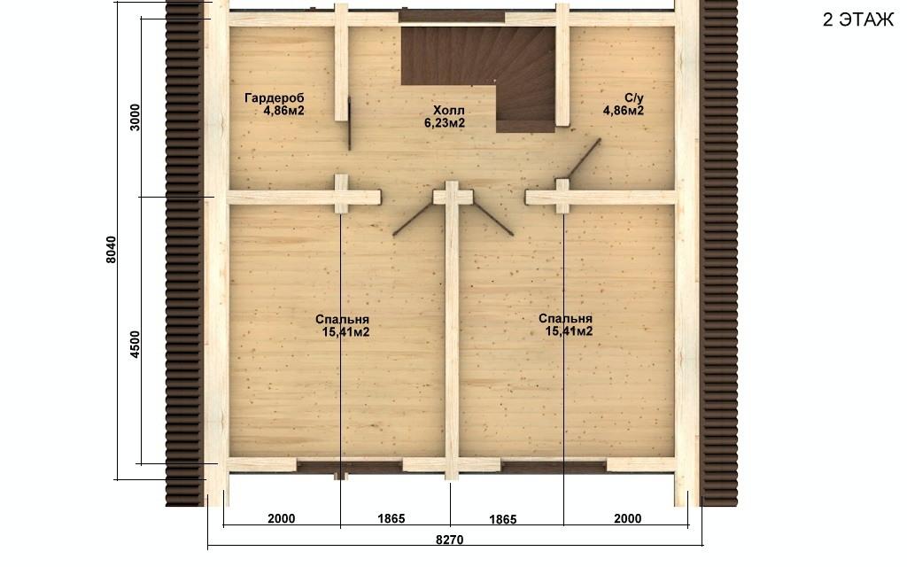 Фото #5: Красивый деревянный дом РС-75 из бревна