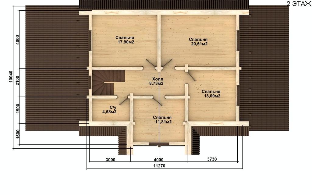 Фото #5: Красивый деревянный дом РС-78 из бревна