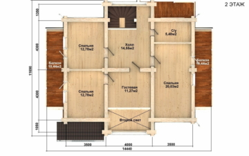 Фото #5: Красивый деревянный дом РС-81 из бревна