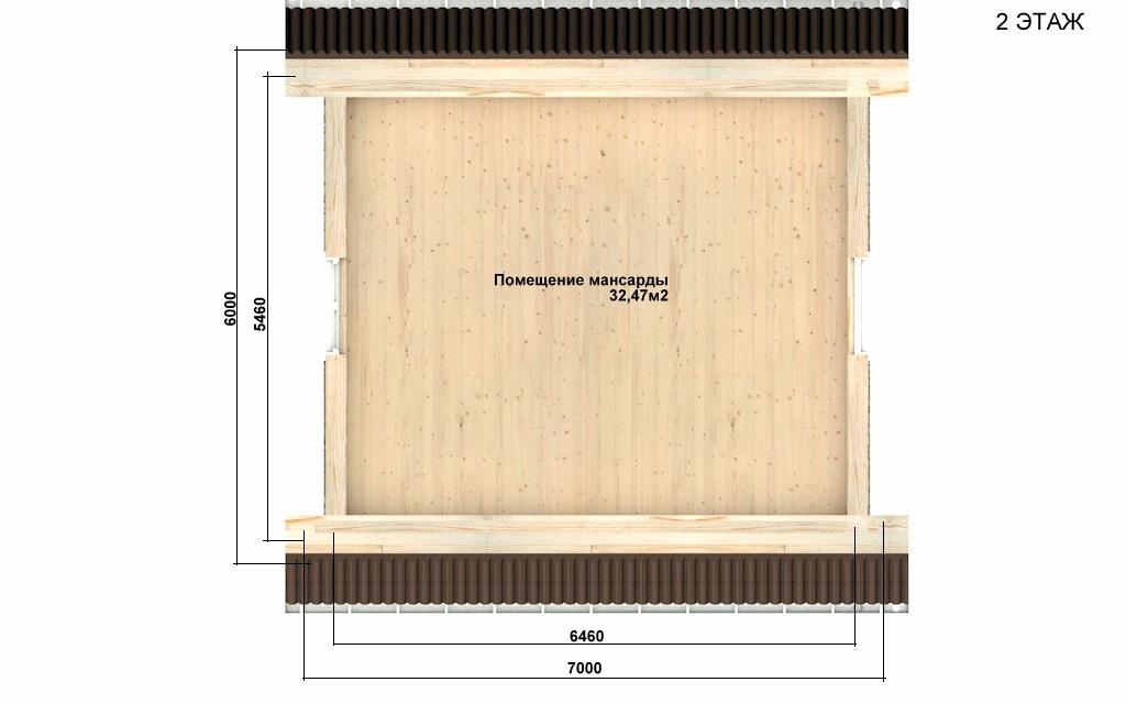 Фото #3: Красивый деревянный дом РС-85 из бревна