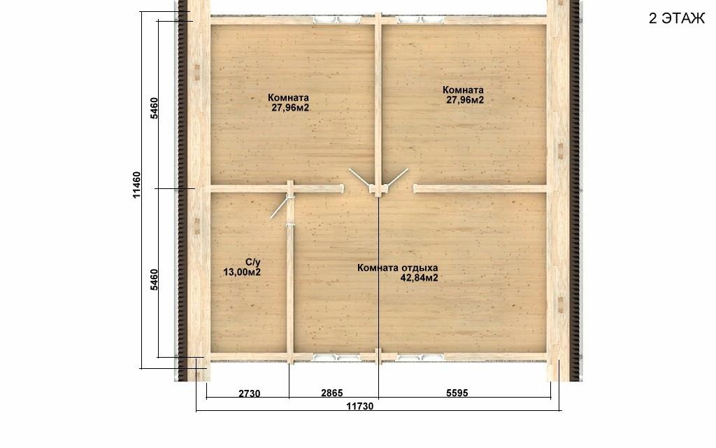 Фото #3: Красивый деревянный дом РС-91 из бревна