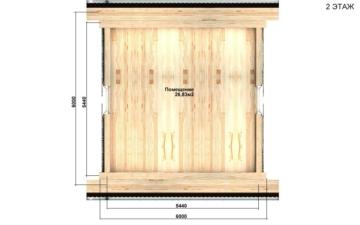 Фото #3: Красивый деревянный дом РС-95 из бревна