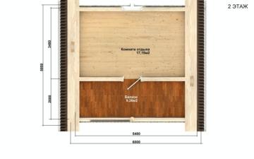 Фото #5: Красивый деревянный дом РС-100 из бревна