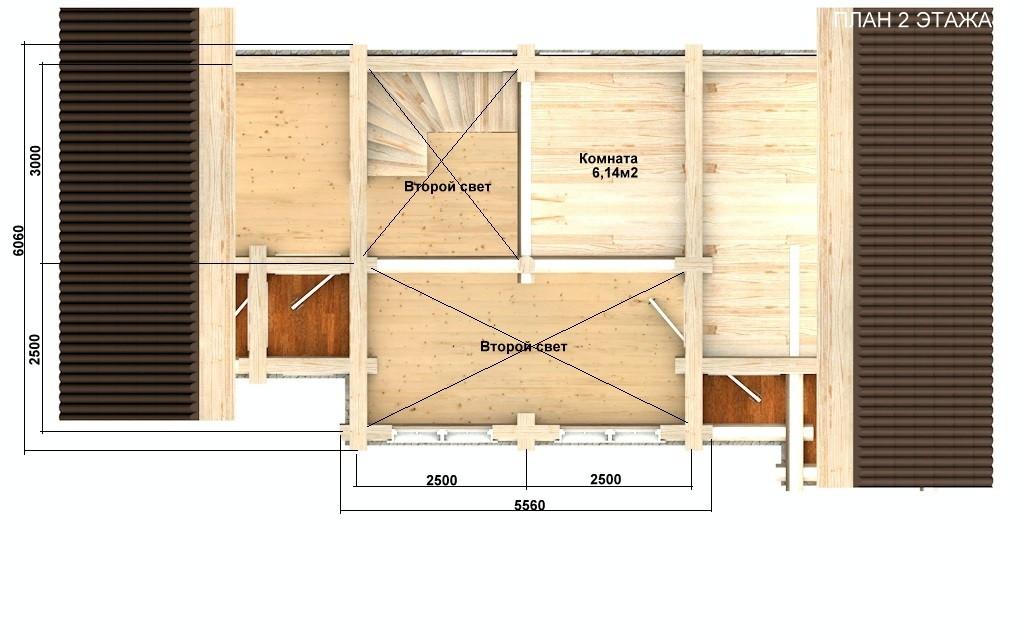 Баня из бревна - проект Бр-27, фото #3