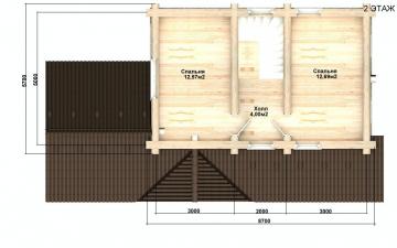 Баня из бревна - проект Бр-31, фото #10