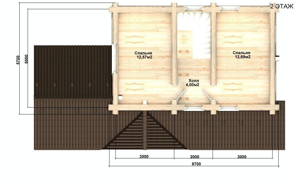Баня из бревна - проект Бр-31, фото #5
