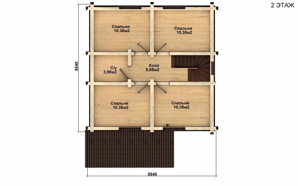 Фото #3: Красивый деревянный дом РС-59 из бревна