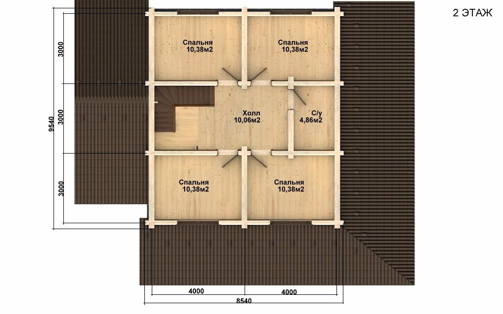 Фото #5: Красивый деревянный дом РС-66 из бревна