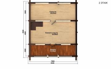 Фото #3: Красивый деревянный дом РС-71 из бревна