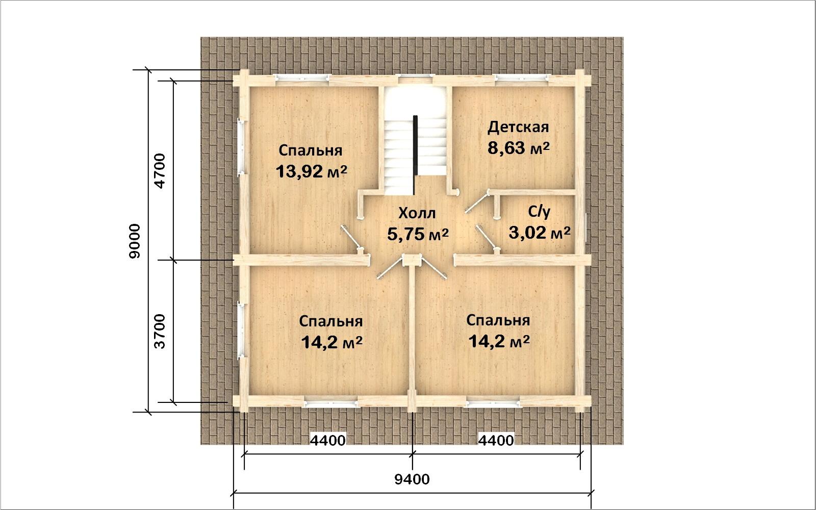 Фото #3: Красивый деревянный дом РС-104 из бревна