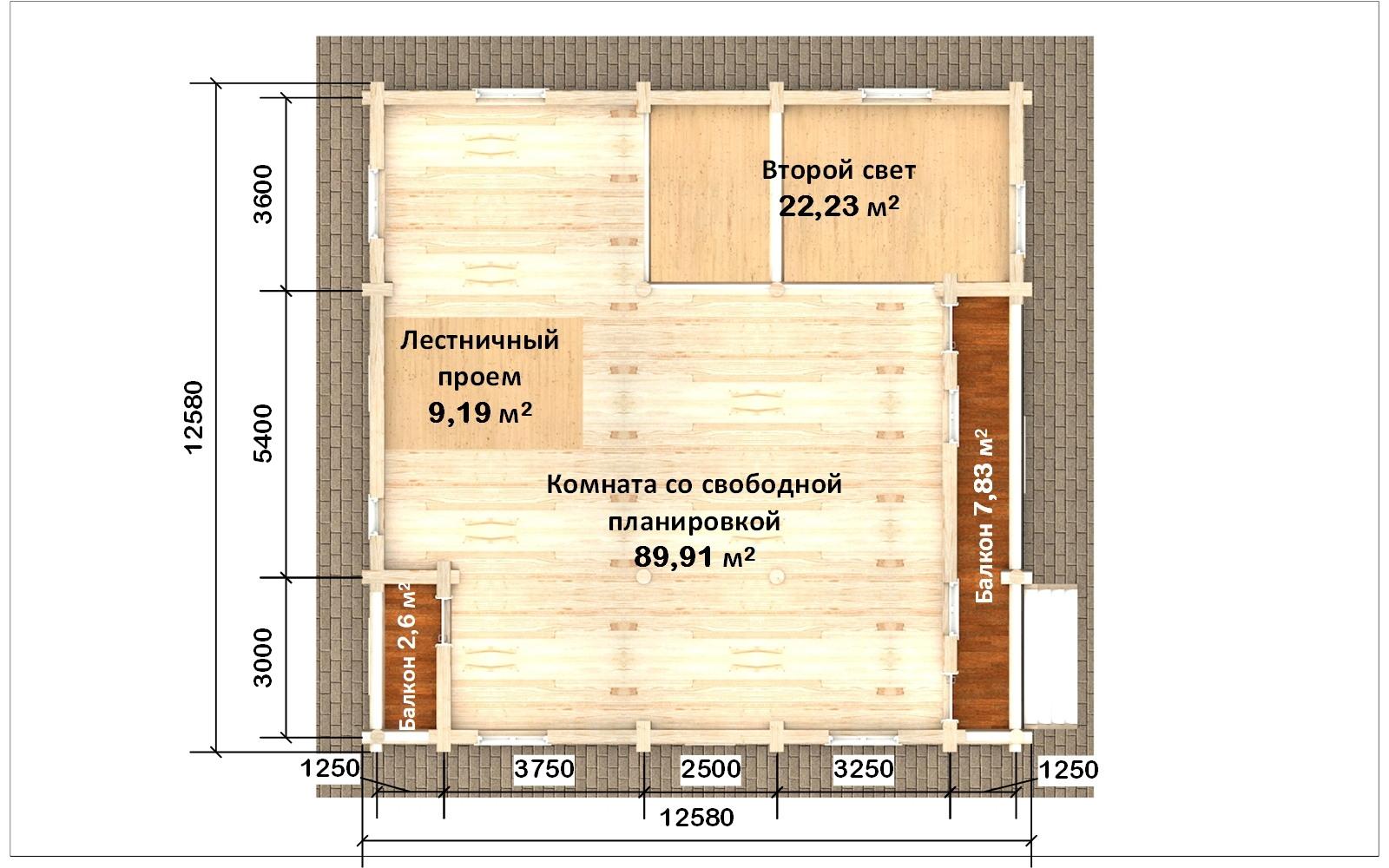 Фото #3: Красивый деревянный дом РС-105 из бревна