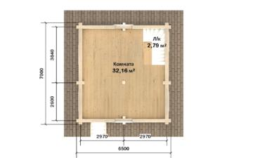 Фото #3: Красивый деревянный дом РС-109 из бревна