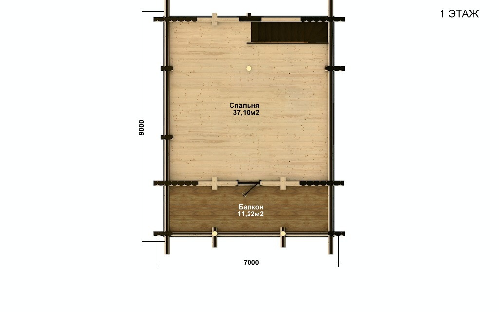 Фото #3: Красивый деревянный дом РС-41 из бревна