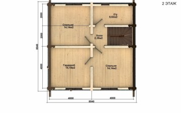 Фото #5: Красивый деревянный дом РС-54 из бревна
