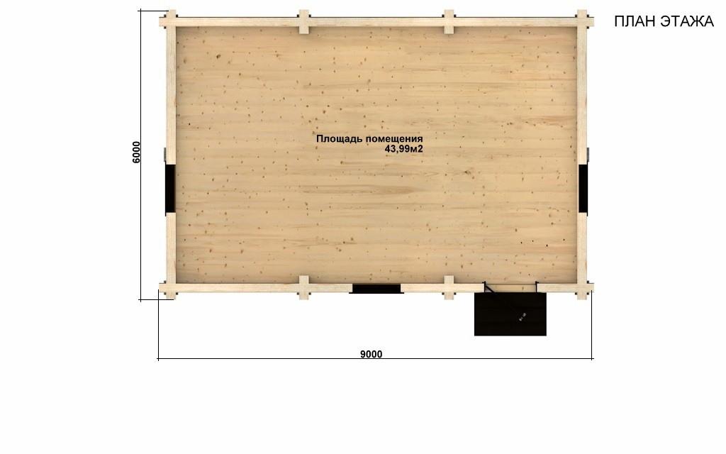 Фото #2: Красивый деревянный дом РС-83 из бревна