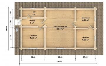 Баня из бревна - проект Бр-50, фото #9