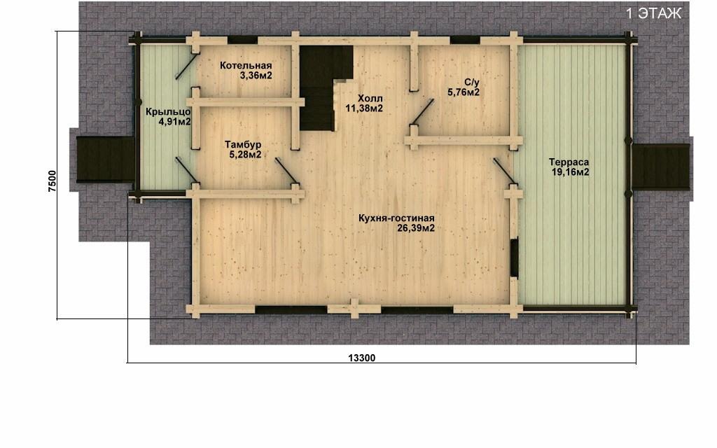 Фото #4: Красивый деревянный дом РС-24 из бревна