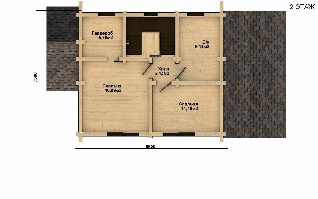 Фото #5: Красивый деревянный дом РС-24 из бревна